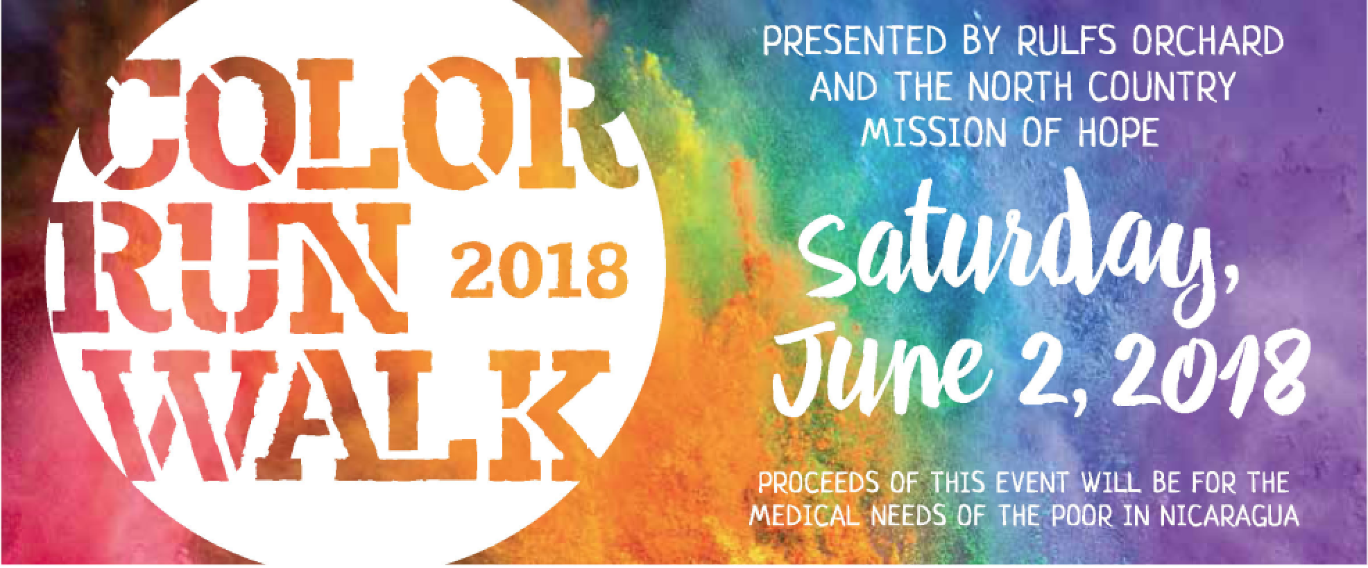 Color Run Registration Form - Rulfs Orchard 2018